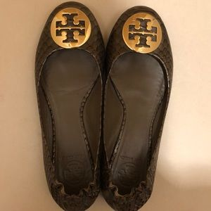 Tory Burch Embossed Reva Flats